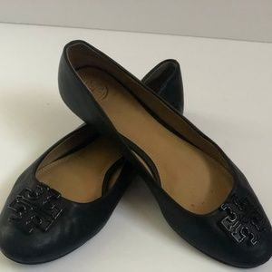 Tory Burch Shoes Ballet Flats Leather Black 8M